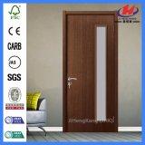 Porte en verre de poche en bois solide de peuplier (JHK-G15)