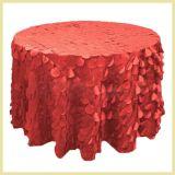Paño de vector blanco redondo del tafetán del pétalo de la boda elegante de lujo