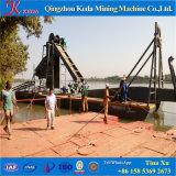 Ausbaggerndes Boot für Goldsand-Bergbau