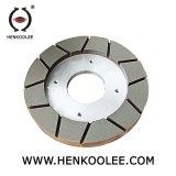 Capa de trabajo con el tipo rueda que ajusta mojada del saetín del diamante del enlace de la resina para los azulejos de pulido