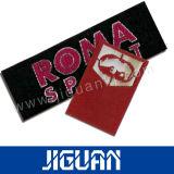Escritura de la etiqueta tejida ropa lavable barata de la certificación de la tapa del precio de la buena calidad