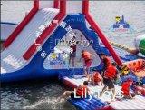 Auf Seekommerziellen aufblasbaren Wasser-Park-Entwurf schwimmen, Wasser-Spielplatz, aufblasbarer Park