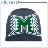 Venta al por mayor caliente del sombrero de la gorrita tejida del Pompom del espacio en blanco del telar jacquar de la venta