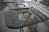 Parti superiori di marmo verdi personalizzate nazionali di vanità per la stanza da bagno