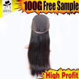 Perruque avant en soie de lacet dans le cheveu brésilien de Vierge