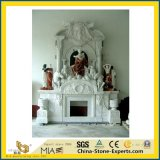 屋内装飾のためののための白くか黒くまたは赤くまたは緑または黄色または紫色またはベージュ色またはブラウンの大理石か石または石灰岩またはTravertineまたは砂岩または花こう岩またはオニックスまたはマントルピースの暖炉