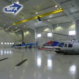Hangar moderno pré-fabricado da construção de aço com certificado do ISO