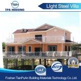 Casa pré-fabricada de aço de Vila da luz luxuosa do duplex do projeto na água