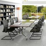 Lamellierter HPL Versammlungstisch mit Tisch-oberstemfaltbarem für Konferenzzimmer