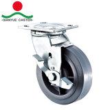 """émerillon 4 """" 5 """" 6 """" 8 """" lourd avec la roue industrielle de chasse de frein"""
