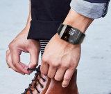 イオンFitbitのための豪華な通気性の本革の時計バンド