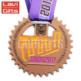 Hot Salts High Quality Custom Metal Gold Plated Jiu Jitsu Medal