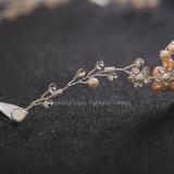 Parte superiore nuziale di Hairbands della vite dei capelli della perla simulata fascia di cristallo degli accessori dei capelli di cerimonia nuziale (CR-11)