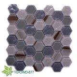 De la escala blanca de 2018 azulejo de mosaico crustáceos y mosaico de cristal del shell en Foshan