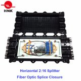 Encierro óptico horizontal del empalme de fibra del divisor de 96 memorias