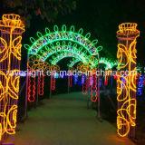 Iluminação de iluminação LED de férias de Natal Arch Cross Street Condecorações