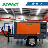 Diesel portátil remolcable compresor de aire de tornillo para la minería 300CFM 10 bar