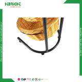 Le pain tour en rack de présentoir avec panier en rotin