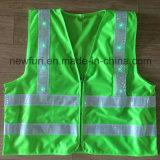 16/24 di maglia riflettente infiammante di sicurezza della maglia dell'OEM di PCS LED