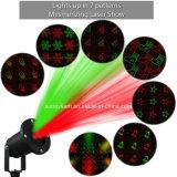 Indicatore luminoso esterno solare della decorazione del laser del giardino dell'indicatore luminoso di natale