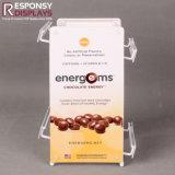 Contador metálica Expositor para café utilizado en el supermercado