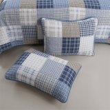 卸し売り極度の柔らかい綿カバーホテルの印刷の格子ベッドのキルト