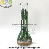 7mm starker 3D Toucheable Kaktus-Glasbecher-Wasser-Rohr für Tabak-Pfeife-Glas-Fertigkeiten