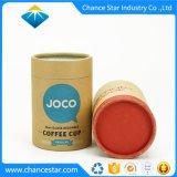 Zoll gedruckte Kaffeetasse, die Packpapier-Gefäße verpackt