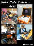 À prova de vídeo a cores CCTV 300m Furo Câmera com guincho elétrico e Contador de profundidade