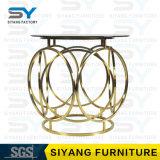 Hauptmöbel-Glastisch-Goldseiten-Tisch-französischer seitlicher Tisch