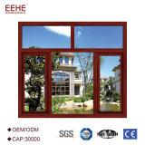 強いアルミニウムプロフィールの倍の緩和されたガラス窓