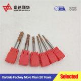 De Molen van het Eind van het Carbide van Tiain van 4 Fluiten HRC 55