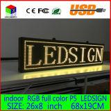Programmierbares Panel-farbenreicher Innenvorstand des LED-Verschieben- der BildschirmanzeigeNachrichtenanzeige-Zeichen-680X190mm LED