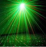 Illuminazione verde della fase della discoteca del laser di natale della Singolo-Testa
