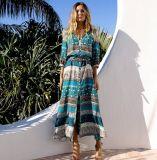 Оптовая торговля последней женщин печатаются на пляже Богемии платья