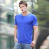 T-shirt de fibra de bambu para homens