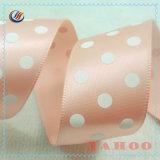 China-Hersteller-heißes Verkaufs-billig gedrucktes Punkt-Polyester-Satin-Farbband