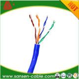 alambre de la red del cable de LAN de Ethernet del 1000FT Cat5e 4/UTP 24AWG (azul)
