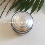 化粧品の包装のための50g銀製のアクリルの円形のクリーム色の瓶(PPC-NEW-147)