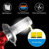 Ampoule multi de phare de la vente en gros H7 H4 DEL de puce de Zes de couleur du lumen X3 élevé