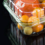 Os chineses plásticos convenientes descartáveis personalizados levam embora a caixa de empacotamento da fruta da caixa