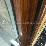 Puerta deslizante de cristal del grano del perfil de aluminio de madera del traspaso térmico