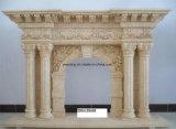 실내 훈장을%s 디자인된 유럽 자연적인 돌 벽난로 맨틀