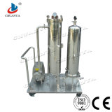 Purificador de tratamento de água industrial com a bomba de vácuo do filtro de cartucho