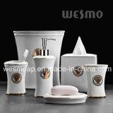 Coordinate del bagno della porcellana con la decalcomania dorata (WBC0607A)