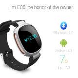Il nuovo braccialetto astuto E08 di Smartband E08 del prodotto con IP67 impermeabilizza il video dinamico di frequenza cardiaca