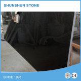 Polished совершенно черный сляб гранита для Countertop/надгробной плиты/лестницы шага