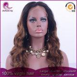 2t Brown Onda Natural cheio de cabelo Virgem Chineses Lace Peruca