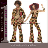 Halloween Adult Hustle Cosplay Party Jumpsuit Hippie Costume (5112)