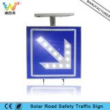 Zeichen-Vorstand der weißes Licht-Blinkenpfeil-Sonnenenergie-LED